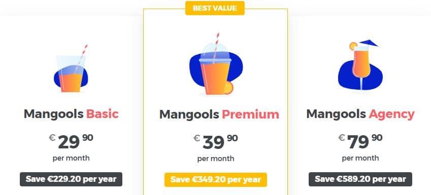 Mangools-prijzen
