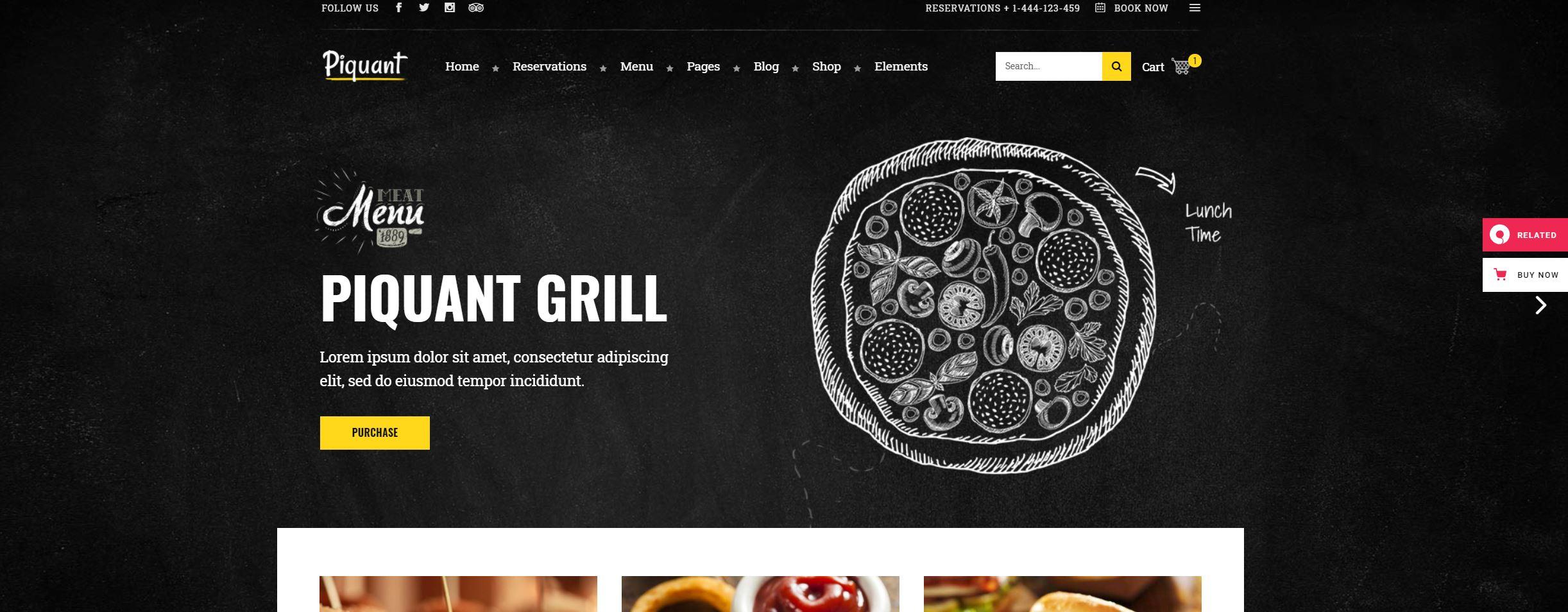 Piquant-wordpress-restaurant-theme