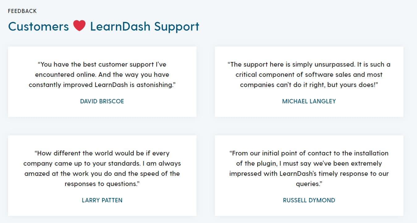 LearnDash-klantenservice