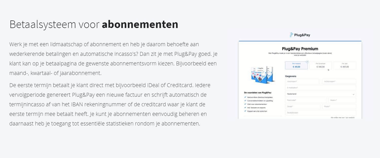 Plug&Pay-abonnementen