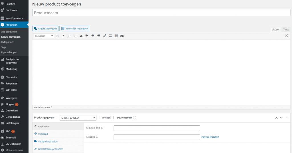 WordPress-webshop-maken