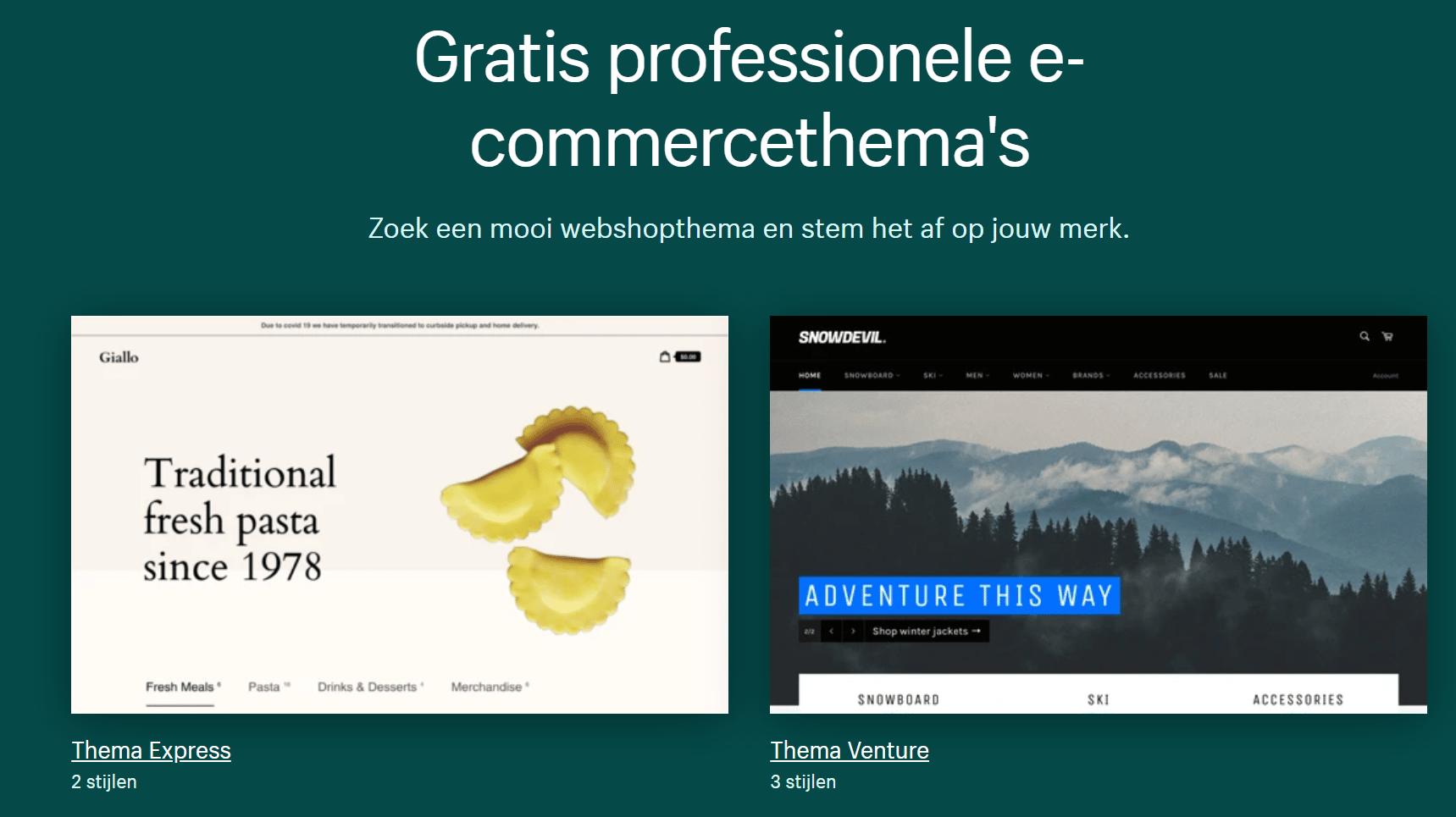 Shopify-thema's