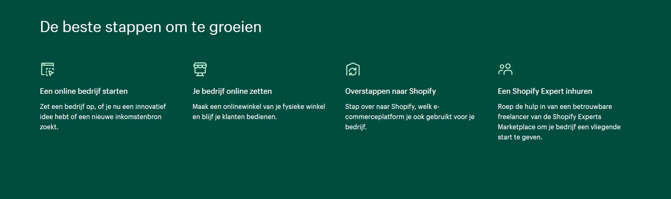 Shopify-webshop-nederlands
