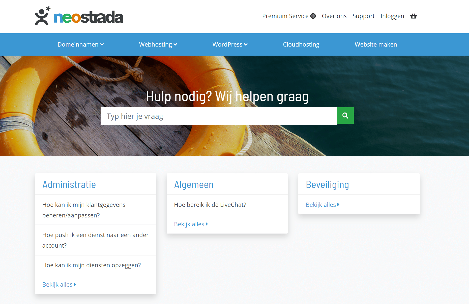 Neostrada-hosting-klantenservice