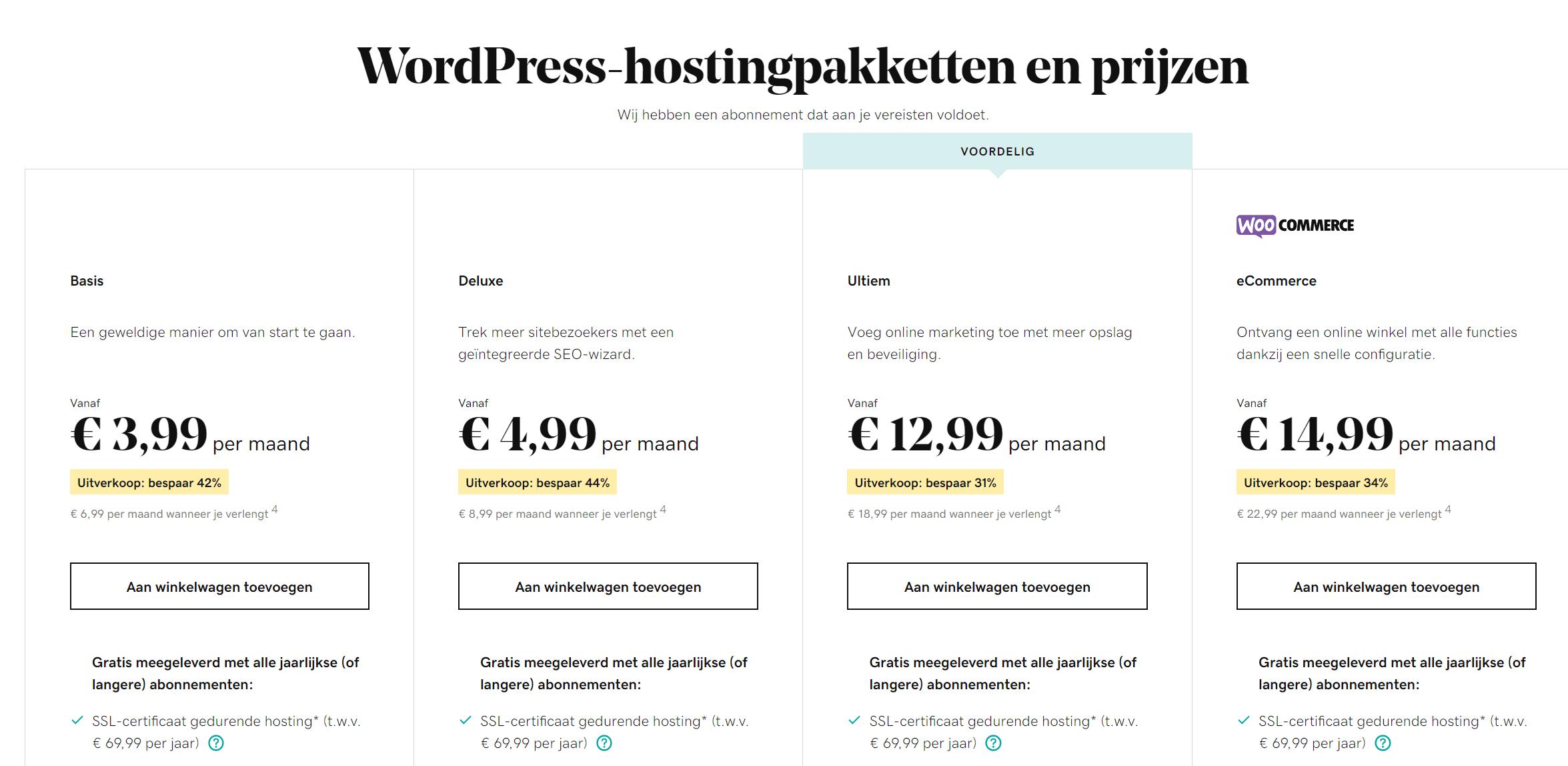 GoDaddy-wordpress-hosting-prijzen
