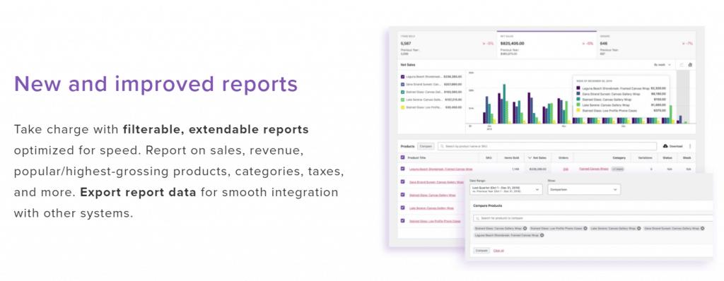 WooCommerce-rapporten