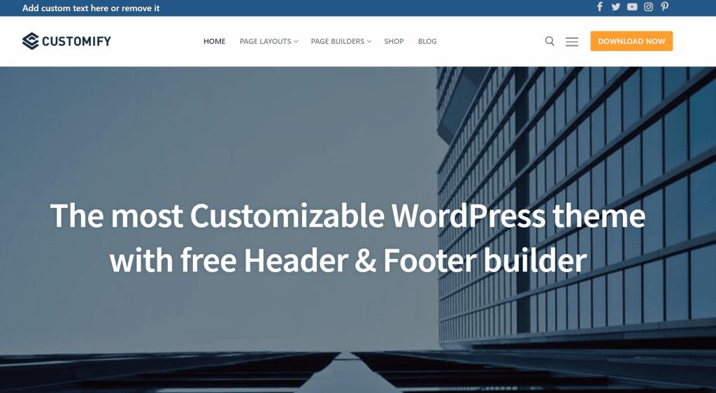 Customify-snelste-wordpress-thema