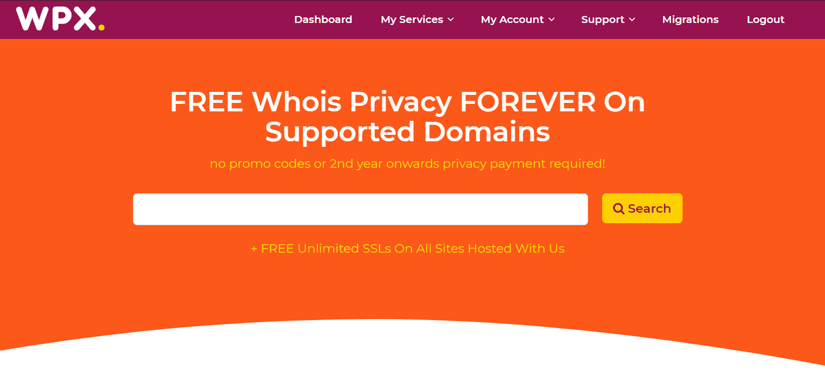 WPX-hosting-domeinnaam